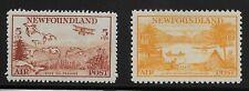 Newfoundland Scott #C13-14, Singles 1933 FVF MH
