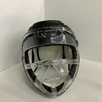 Black Headgear Kickboxing Sparring Fighting Boxing Helmet W/ Plastic Face Mask