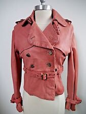 GIORGIO BRATO distressed leather motorcycle style jacket women's Italian size 42