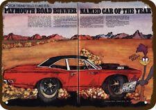 1969 PLYMOUTH ROADRUNNER 383 Car Vintage Look REPLICA METAL SIGN - ROAD RUNNER