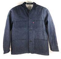 Levis Lined Selvedge Utlity Coat White Oak Cone Denim Jacket Mens MSRP $248