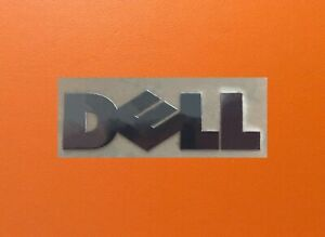 1 pcs Dell Skylake Silver Chrome Color Sticker Logo Decal Badge 22mm x 5mm