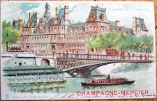 1903 'Champagne Mercier' Advertising Postcard: Hold-to-Light, Paris- Color Litho