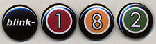 Blink 182 Numbers Four Button Badge Pin Set -