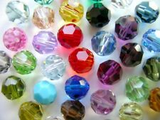 25 PIECES ROUND GENUINE SWAROVSKI 4MM #5000 CRYSTAL BEADS - YOU PICK COLORS!