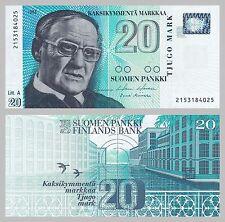 Finnland / Finland 20 Markka 1993 p123 unz.