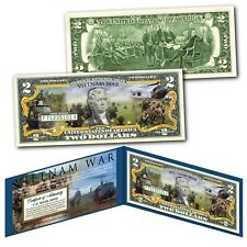 Vietnam War Nam Conflict Vets Official Genuine Legal Tender $2 U.S. Bill w/ Coa