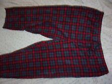 NEW SADDLEBRED Men Big & Tall Fleece Sleep Lounge Plaid Pajama Pants 4XL (B155)