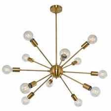12-Lights Industrial Sputnik Chandelier Indoor Pendant Lighting Ceiling Fixture
