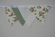 Sophie Rose, Cream Rose with Sage green spot and cream broiderie anglais 10m