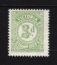 Victoria: 3d Stamp Duty Muh Light Bend