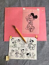 Disneyland Pinocchio w/ Mickey Ears Original Art Gene Calmelat Illustrator
