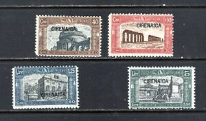JHL 1927 CYRENAICA B13-B16 FULL SET OF 4 UNUSED F/VF LH (CAT $18)