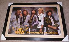 AEROSMITH Permanent Vacation LP Album ORIGINAL PROMO POSTER Band Signed FRAMED