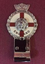 Royale Heavy Chromed Brass Car Badge - ENGLAND TUDOR ROSE + Desmo Clip - B6.001