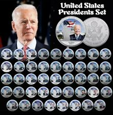 More details for 46 silver coins of the presidents of the usa, obama, donald trump, jfk coin set