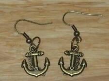 Bronze Lovely Anchor Charm Earrings