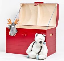 RED Wooden Trunk Chest Storage Toy Box Bed Furniture Wood Ottoman Basket LARGE
