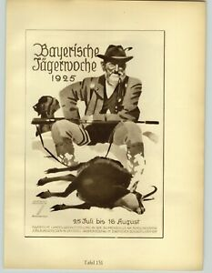 1926 Ludwig Hohlwein Munchen Bayerische Tagernoche Weizennahrung Poster Print