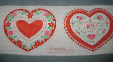 Vintage Springs Industries Fabric Panel 7706 Valentine Heart Pillow Flower Print