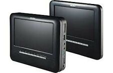 "Curtis Alba CCE71DVDTW 7"" Twin Dual Screen portable in car DVD Players Black B75"