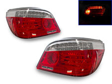 FACELIFT LOOK LED LIGHT BAR DEPO 2004-2010 BMW E60 5 SERIES RED/CLEAR TAIL LIGHT