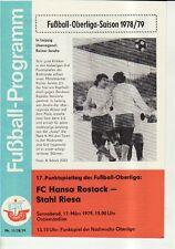 OL 78/79 1. FC Hansa Rostock - Stahl Riesa