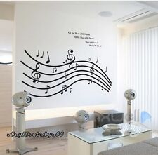 Love Melody Music Notes Wall decals Removable sticker home art Kids Room decor