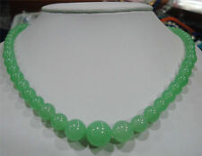 """6-14mm Natural Emerald Beads Necklace 18"""""""