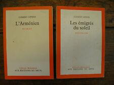 Clément Lépidis Les émigrés du soleil + L'Arménien / 2 livres éditons du Seuil