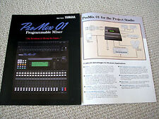 Yamaha PROMIX-01 digital mixer brochure