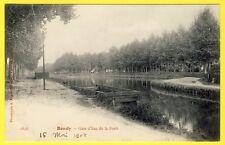 cpa 93 - BONDY (Seine Saint Denis) GARE d' EAU de la FORÊT Barge Bateau Carré