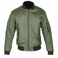 SPADA AIRFORCE 1 CE APPROVED OLIVE MOTORCYCLE MOTORBIKE SCOOTER JACKET