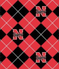 Package of Short Pieces Nebraska Cornhuskers College Fleece Fabric Print D004.38