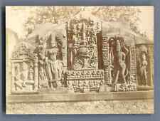 India, Fort de Gwalior, sculptures intérieures Vintage citrate print.  Tirage