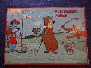 Vintage 1959 MB Milton Bradley Huckleberry Hound 43 Piece Puzzle Aptitude Test