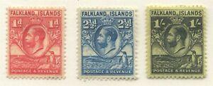 FALKLAND ISLANDS #55, 57, 60a MINT
