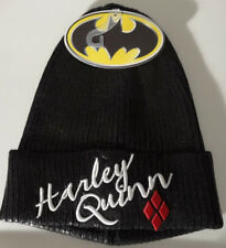 Harley Quinn Metallic Coated Beanie Cuff Knit Hat Dc Comics Nwt