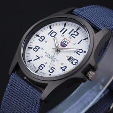 Fashion Mens Date Military Sports Stainless Steel Quartz Army Wrist Watch US LB