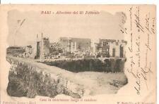 BARI - Alluvione del 23  Febbraio - Casa in costruzione lungo il canalone