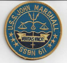 USS John Marshall SSBN 611 (slow attack) - 4 inch FE BC Patch Cat No c6844