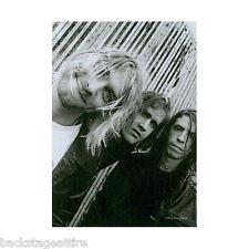 Nirvana Kurt Cobain B/W Group Cloth Fabric Poster Flag Textile Wall Banner-New