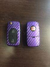 Carbon lila decoración schlüssl lámina Seat Leon Golf Passat VW Bora polo Skoda