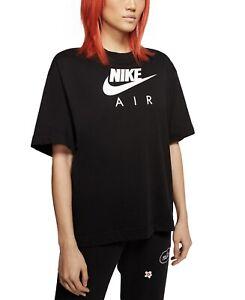 nike womens air cotton logo t shirt black XL MSRP $45 NWT