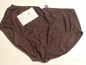 Delta Burke Brown 24W Front Lined Swim Panty Swimsuit Bottom NWT