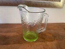 New listing Vintage Glass Beverage Pitcher Hammered Green Glass