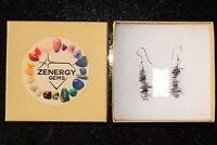CHARGED Iolite Crystal Chip Earrings REIKI Energy! ZENERGY GEMS™