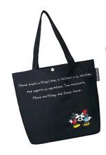 Fashion Canvas Black Cartoon Disney Mickey Mouse Large Tote Per Shoulder Bag