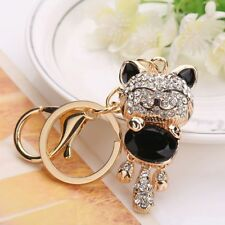 Creative Jewelry Crystal Pendant Women Gift Key Ring Bag Lucky Cat Key Chains