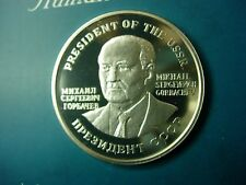 RUSSIA , SILVER PROOF Medal , M.GORBACHEV , Nobel Peace Prize - 1990 . RARE !